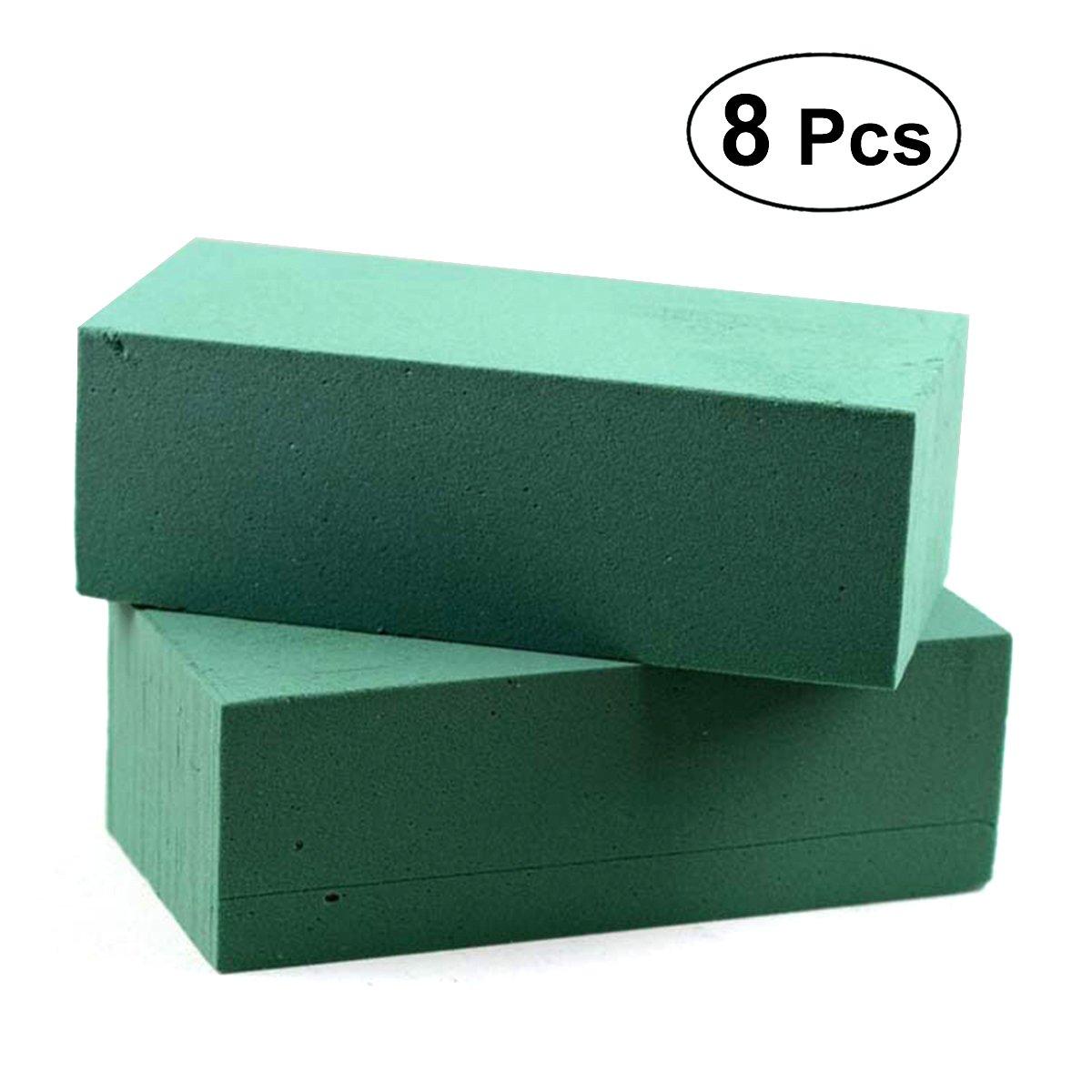 ULTNICE 8Pcs Floral Foam Bricks Green Styrofoam Blocks for Packaging Artificial Flowers Plants