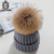 beautiful girl soft cape chic kids fur pompom hat new baby knitted beanie hat