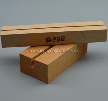 Creative Desktop Display Stands Wooden Business Card Box Name Holder