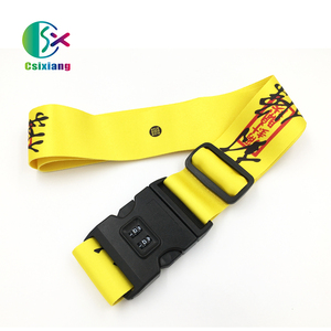 China OEM Fashion Custom Cheap Dye Sublimation Printed Luggage Straps/Belts With Anime Design