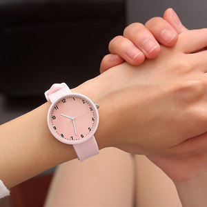 Silicone Wristwatch Women Watches Pink Candy Quartz Watch for Ladies Female Clock