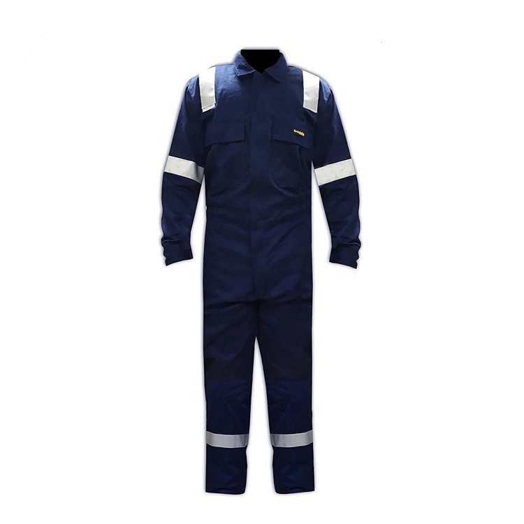Wholesale 180g Navy Blue Work Uniform Protective Coverall