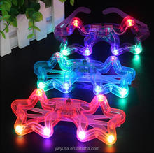 Luminescence fluorescent glasses, Round butterfly Shaped Flashing glasses