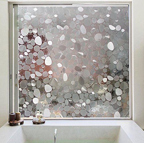 Get Quotations Aingoo Orchid Fl Premium No Glue Static Decorative Frosted Privacy Window Film For Gl