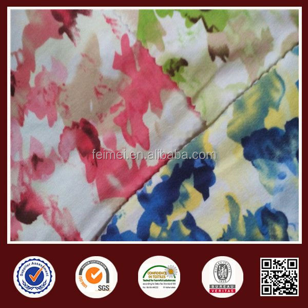 Knit Jersey Fabric Cotton Span Print Knit Fabirc China Supplier