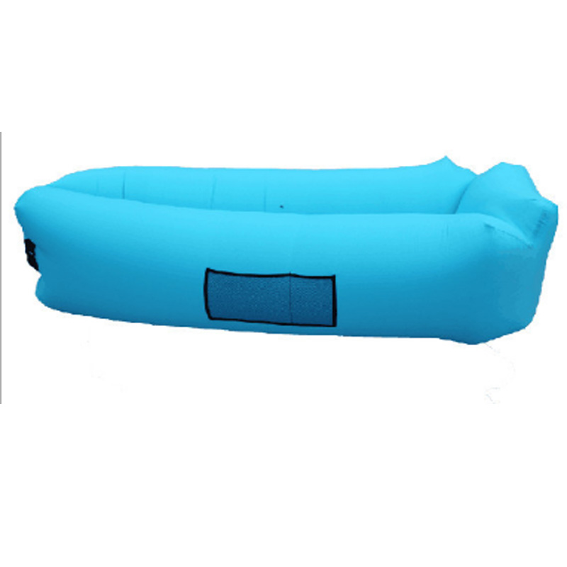 2017 Hot Outdoor Portable Inflatable Banana Square Shaped inflatable sofa Waterproof Sleeping Bag Air Lounger With Pillow Tent