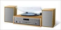 Custom design suitcase turntable player Vinyl recorder for children gift