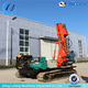 Ground screw pile driver machine for solar energy system