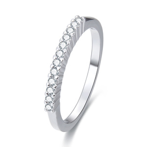 POLIVA Simple Fashion Fine Jewellery 925 Sterling Silver Ring Cz Diamond Eternity Band Cheap Women Jewelry