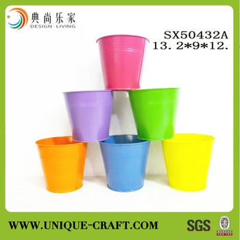 Wholesale Small Metal Tin Buckets For Garden Decor Buy Garden Pots Plant Stand Home Decoration