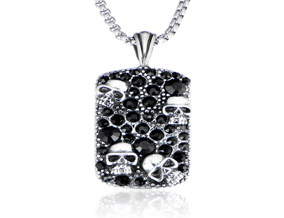 European And American Personality Necklace Skull Head Wholesale