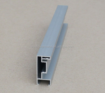 Top Quality Extruded Silver Anodized Aluminium Profile For