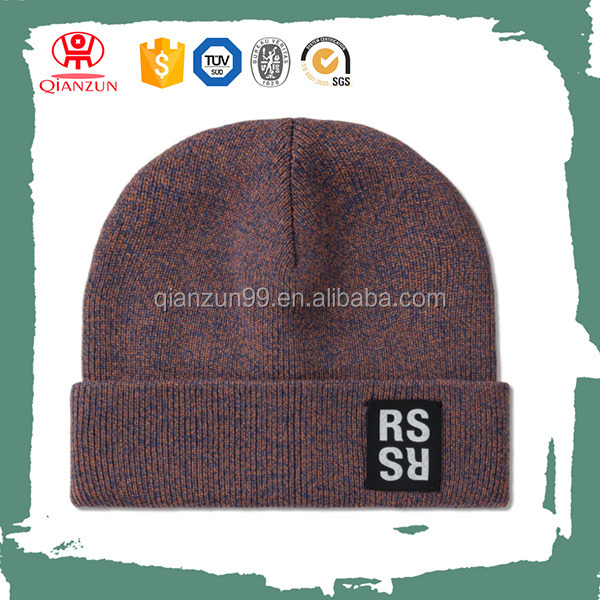 Cheap Plain Knitted Beanies With Custom Tags