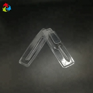 Vaccum forming disposable plastic syringe packaging tray blister pack tray for cosmetic syringe