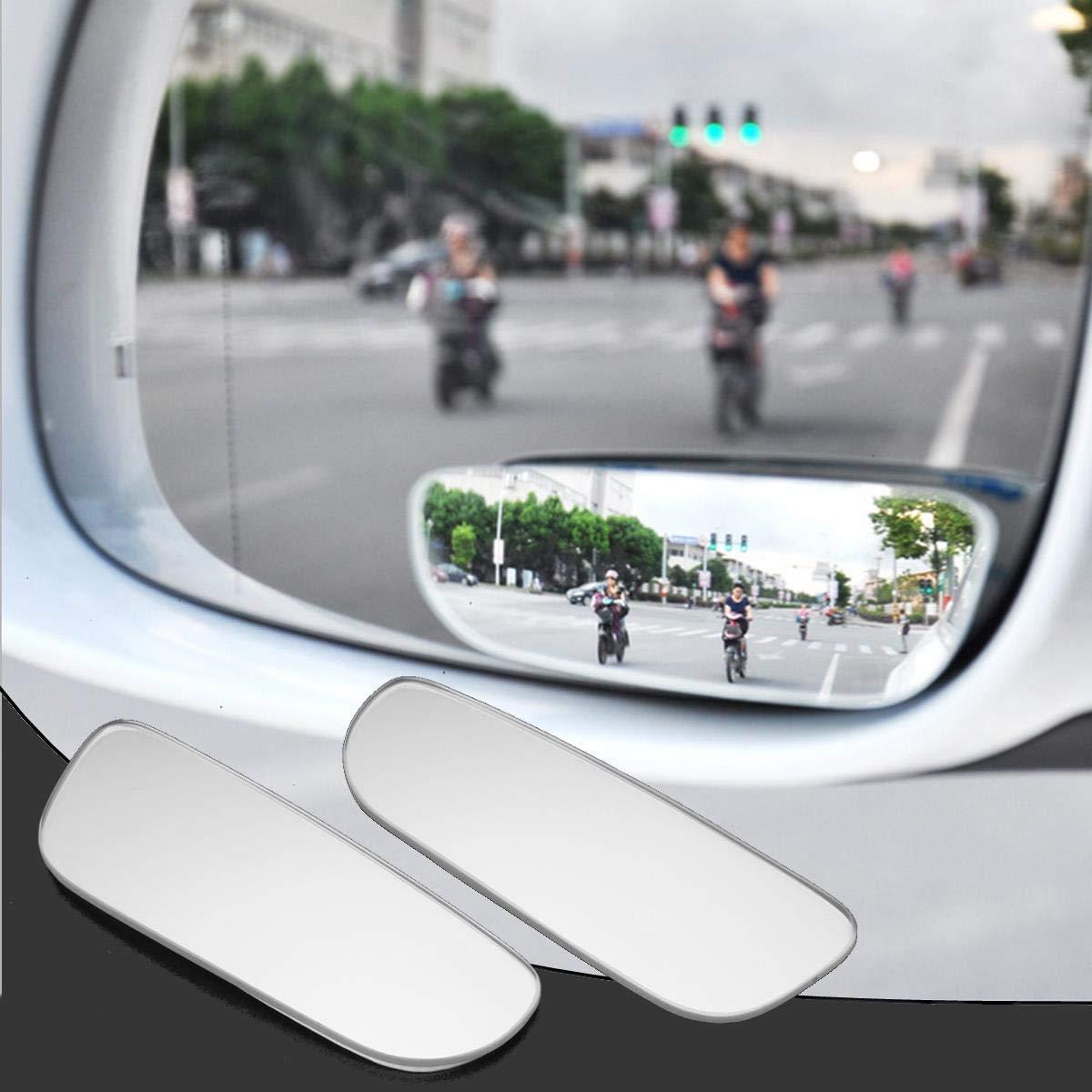 2pcs Slim Car Rear View Blind Spot Mirror 360° Rotating Convex Wide Angle Glass Mirror - Interior Accessories Interior Mirrors - 2 X Rear View Blind Spot Mirror