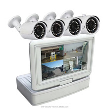 Wifi Kamera mit lcd-bildschirm Monitor 4CH wireless NVR kits wasserdichte outdoor home cctv-systeme