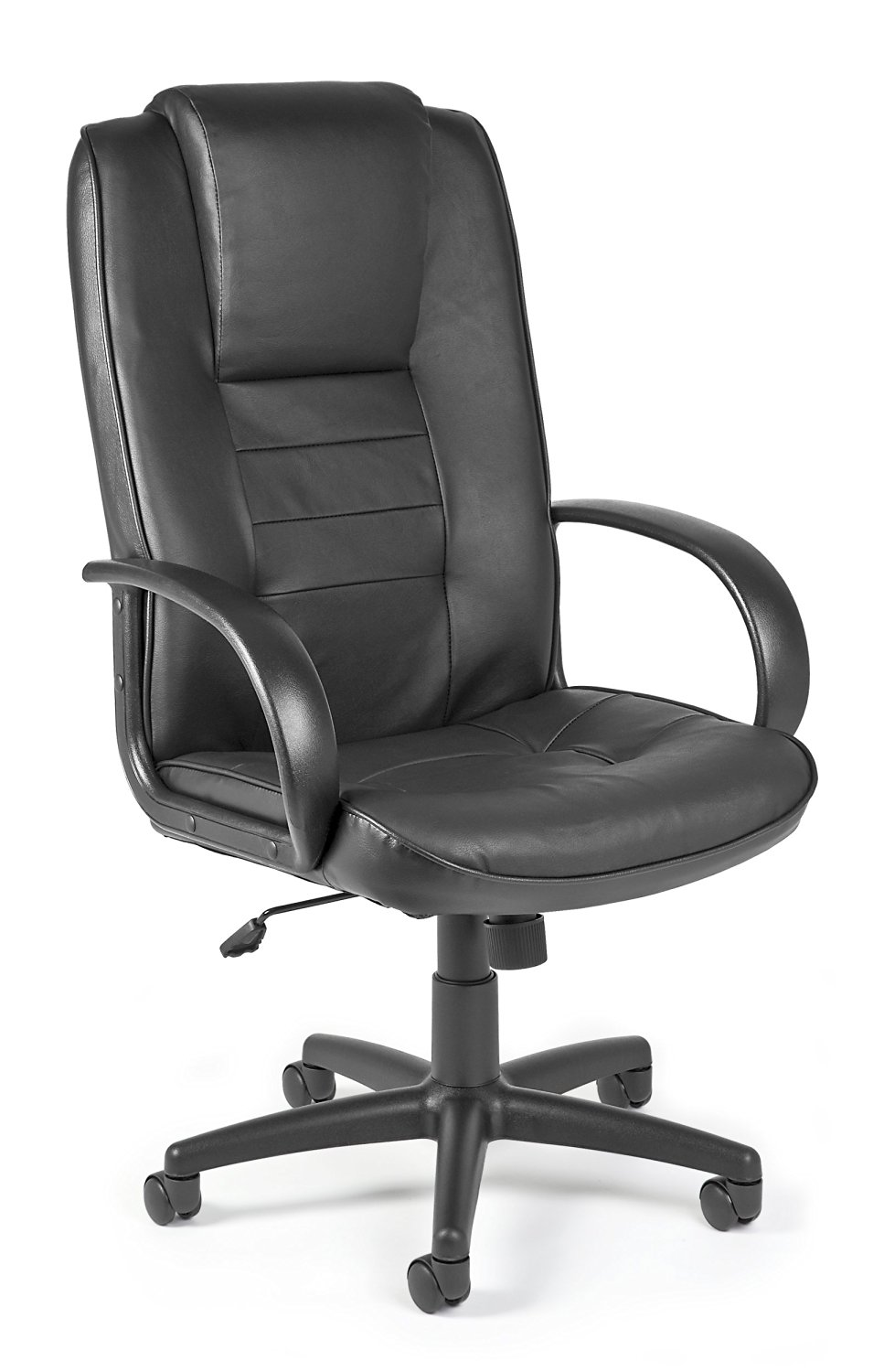 OFM 500-L Promo Hi-Back Leather Chair, Black
