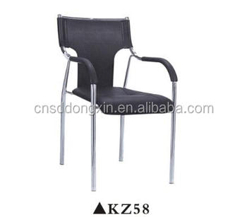 Black Stainless Steel Frame Office Chair Computer Seating Kz58