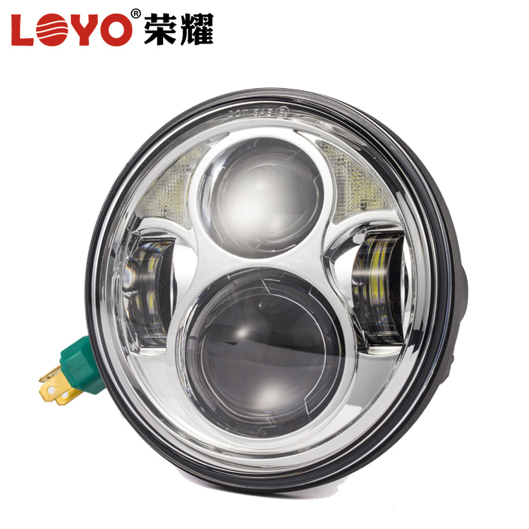 "Real Factory Wholesale 40W 5.75"" harley led headlights 5 3/4 inch 5.75inch round motorcycle led headlight for harley davidson"