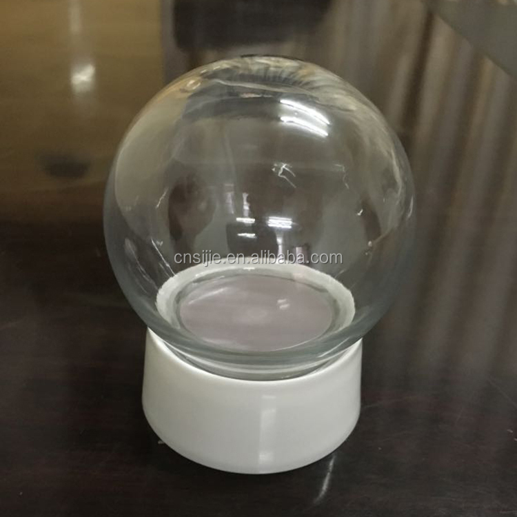 Custom made Plastic DIY inside snow globe for Christmas decor