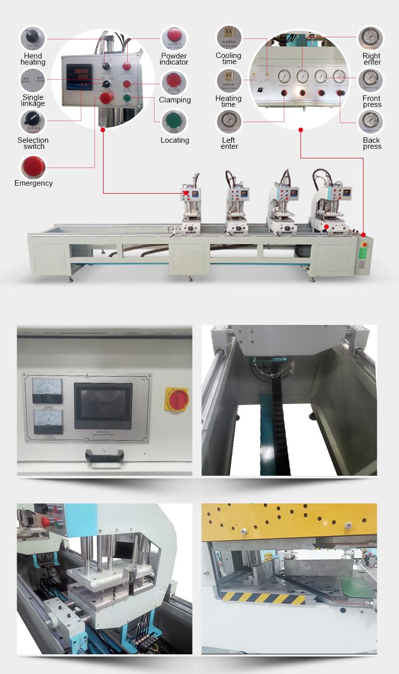 Canto perfil de PVC máquina de solda preço