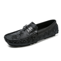 2019 new arrival stylish slip on driving shoes cheap black men casual loafers