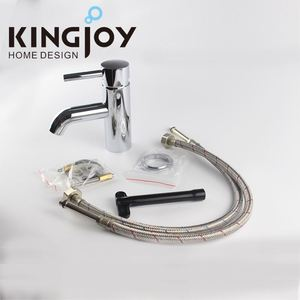 One Hole Basin Mixer Tap Polished Bathroom Basin Sink Mixer Tap Brass Faucet