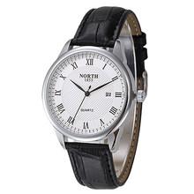 NORTH модные часы для мужчин кварцевые мужские s часы лучший бренд класса люкс золотые Водонепроницаемые кожаные часы для мужчин бизнес наруч...(Китай)