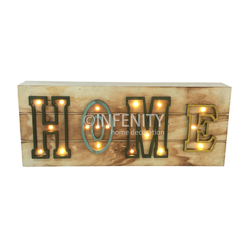 Aangepaste Hout LED Licht Brief Geschenk Decoratie Aanmelden Home Decor LED Light Up Alfabet Letter