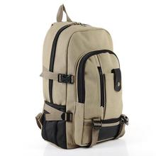 S03 2015 hot Baobao male fashion casual canvas backpack middle school bag travel bag large capacity backpack