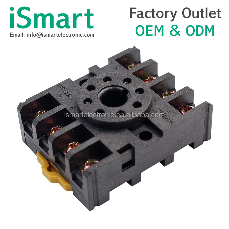 PF083A 8 pin relay socket base for DH48S ST3P AH3-3 MK2P JTX-2C