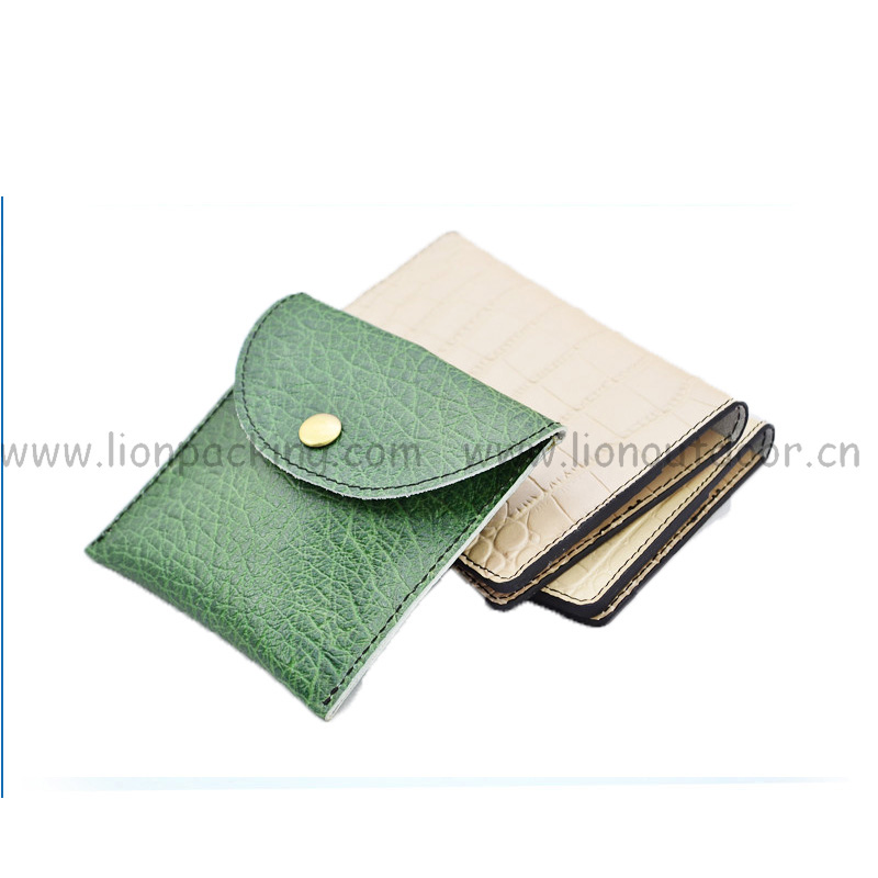 Customize neck cosmetic mobile phone earphone mini leather pouches