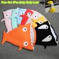 In Envelope Newborn Cute Shark Sleeping Bag For Winter Baby Bites Bag Swaddle Blanket Wrap Cartoon