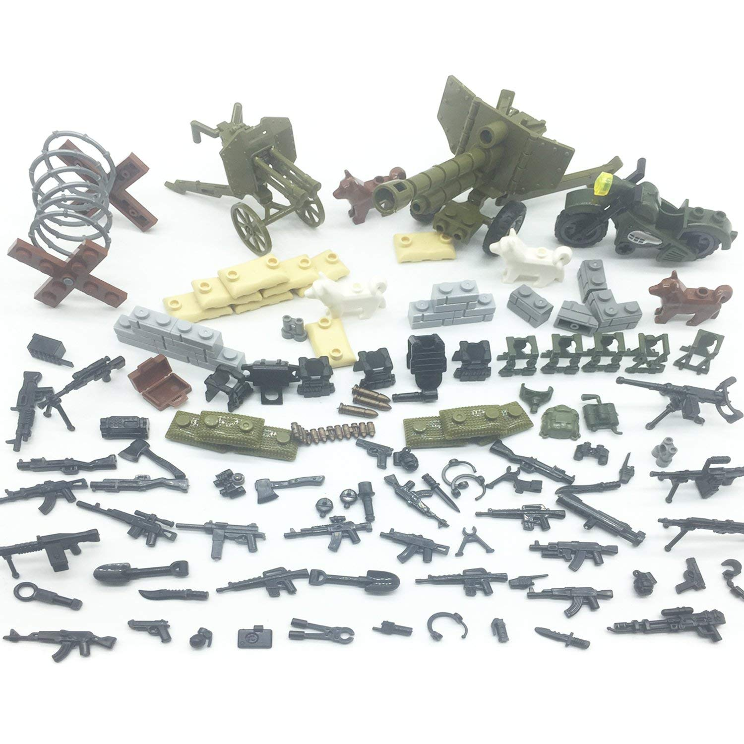Koolfigure Custom Military Army Weapons & Accessories Set Compatible Major Brands, Building Blocks Toy