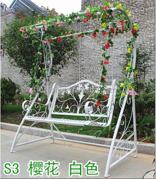 Outdoor Decoration Garden Wrought Iron Swing