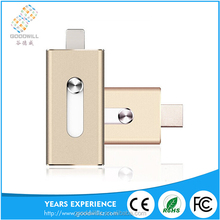 OTG 128MB- 64GB Metal USB Flash Drive For Mobile phone /pc