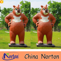 Movie cartoon characters fiberglass/resin life size bear statue NTRS-CS763A