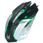 Fashion style popular custom band oem logo backlit light glowing optical wired led rgb neo mouse gaming for pc electronic sports