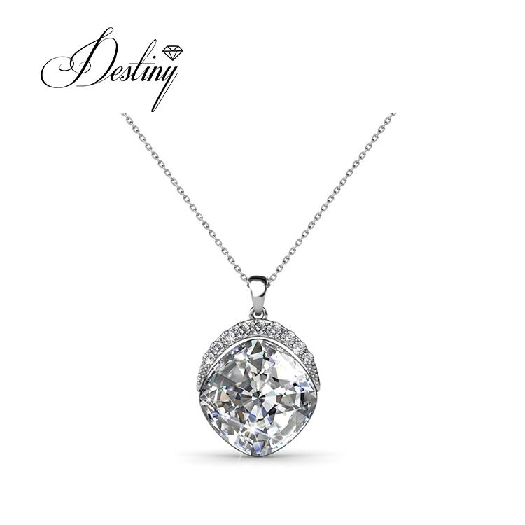 94bc737c7 Destiny Jewellery wholesale 925 sterling silver necklace blue crystal  pendant fashion pendant crystal from Swarovski