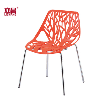 Modern Plastic Waiting Area Table Armless Chair For Visitors
