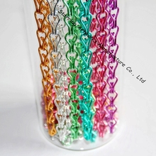 Custom Colors Decorative Aluminum Double Link Twisted Hanging Chain