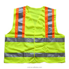 high visibility mesh safety vest with one inside chest pocket