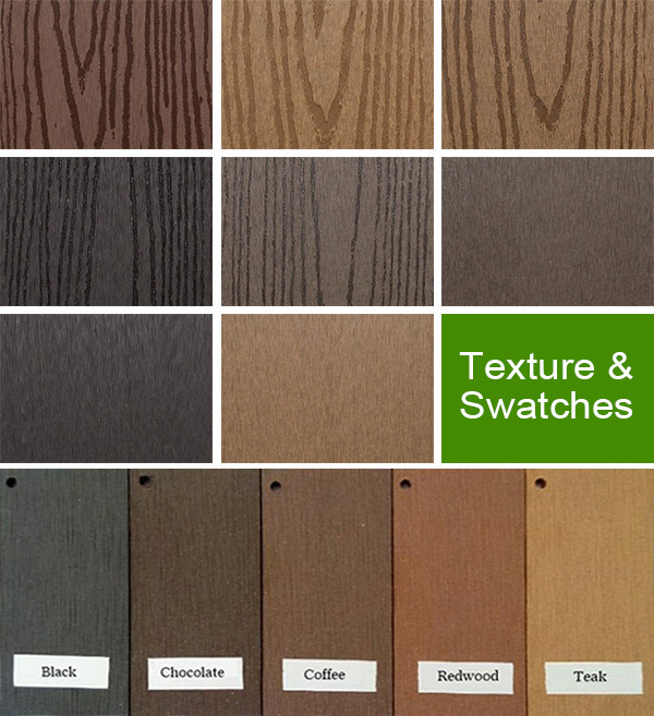 Plastic Exterior Wall Decorative Panel Fire Resistant Wood