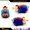 Hero Pig Toy Rubber Pig Squeaky Toy for Pet Plaything