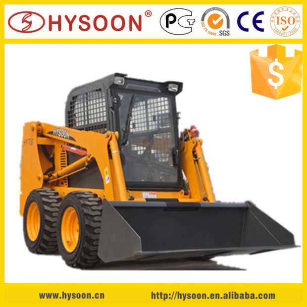 Chinese mini skid steer backhoe loader for construction
