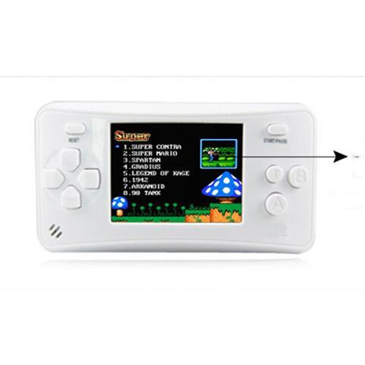 Built in 700mAh battery kid handheld 16 bit tv one station game console