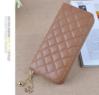 New products Quilted women Leather purse ladies wallet women clutch alibaba china