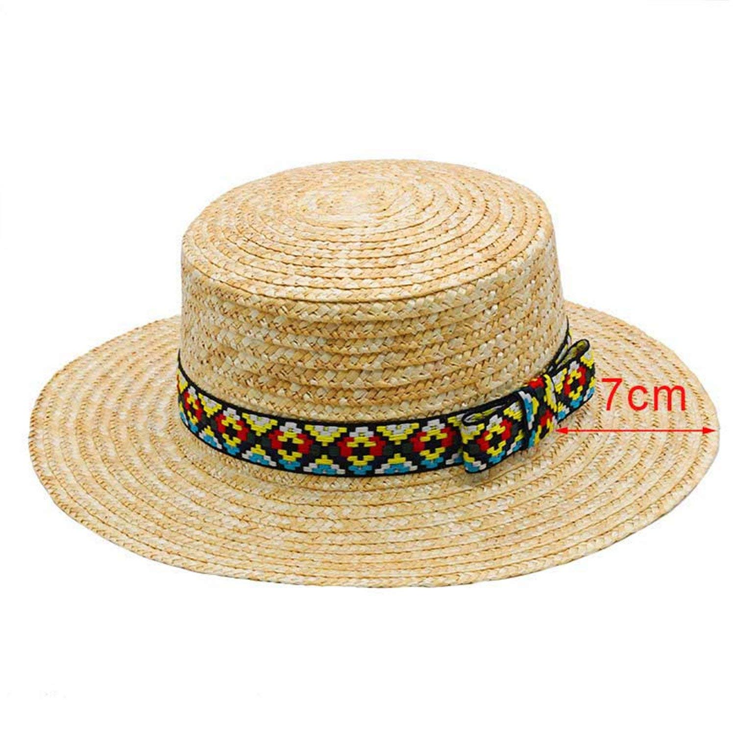Get Quotations · Madehappy Summer Hats for Women Flat Top Straw Beach Hat  Panama Hat Summer for Women Straw 95e0bbe0b05