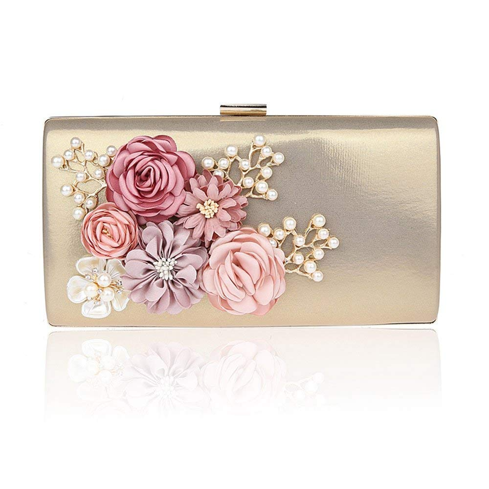 9167e4527e Get Quotations · ELEOPTION Women Ladies' Flower Evening Clutch Bags Purse  For Girls Crown Box Clutch Evening Luxury