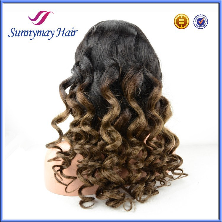 Sunnymay Natural Hairline 100% Brazilian Virgin Human Hair Front Lace Wig Fast Shipping